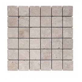 Mosaique Travertin 4.8x4.8cm